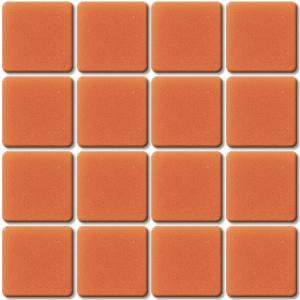 Orange mosaïque Orange moyen 113B Smalti mat 1.5 cm par plaque