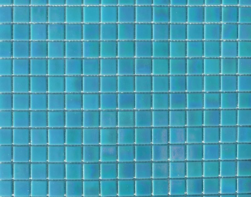 bleu turquoise nacr mosaique pte de verre par 25 carreaux - Mosaique Turquoise