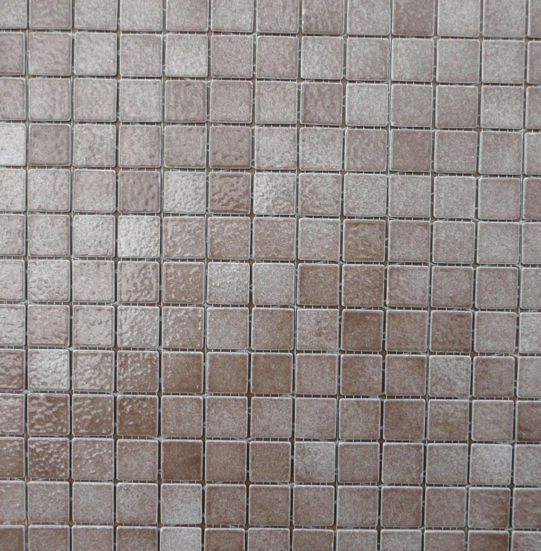 Brun clair terre / noisetier mosaïque Briare par plaque