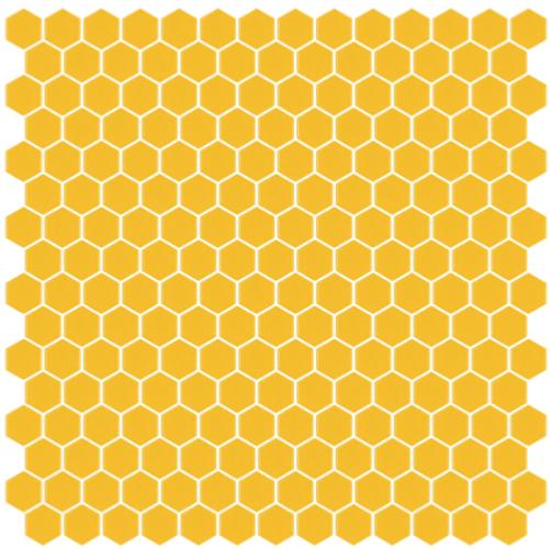 Jaune orange hexagone mosaïque émaux brillant par 2M²