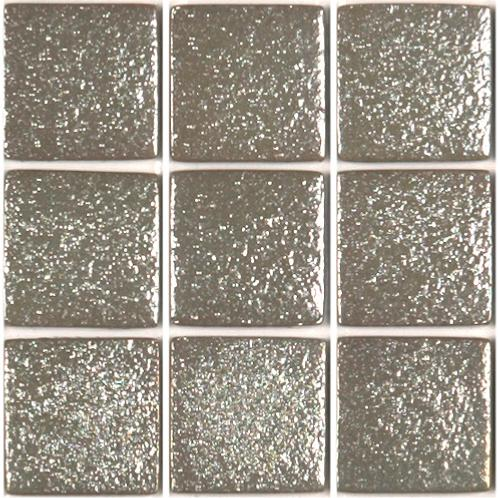 Mosaïque pâte de verre carré gris taupe argent gauffré 100g - Achat ...