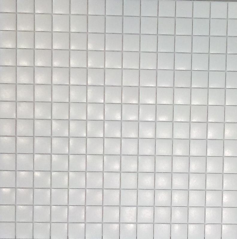 Mosa que p te de verre carr blanc mat plaque achat de for Carrelage 10x10 blanc mat