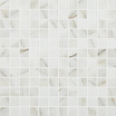 Blanc mosaïque émaux 2.5 cm mat aspect marbre CALACATTA au M²
