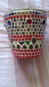 Pot de fleur mosaique modele image en mosaiques p t de - Modele poterie pour debutant ...