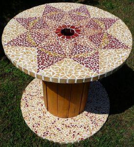 image mosaique avec emaux briare sur tourret par made in mosaic. Black Bedroom Furniture Sets. Home Design Ideas