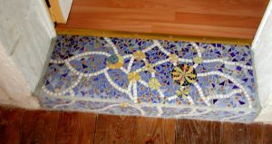 marche bleu astres REALISATION MADE IN MOSAIC