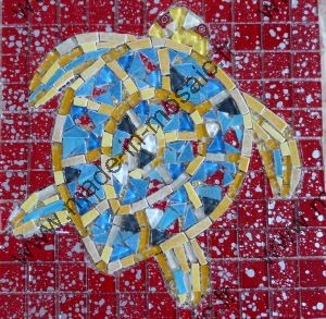 TORTUE DE MER REALISATION MADE IN MOSAIC